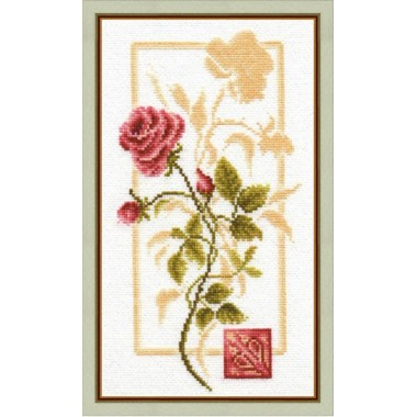 """Набор для вышивки крестом Золотое Руно БР-005 """"Отражение розы"""""""