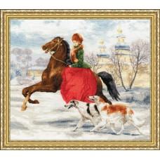 """Набор для вышивки Золотое Руно ЧМ-052 """"Зимняя прогулка"""""""