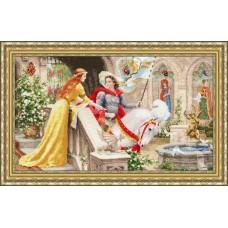 Набор для вышивания Золотое Руно ЧМ-068 Рыцарь на белом коне