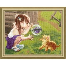 Набор для вышивки крестом Золотое Руно ЧМ-069 Забавная игра