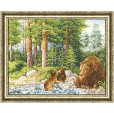 """Набор для вышивки крестом Золотое Руно ДЖ-017 """"Медведи"""""""
