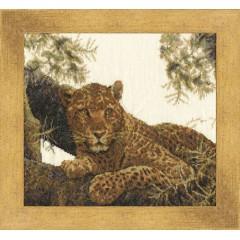 """Набор для вышивки крестом Золотое Руно ДЖ-022 """"Сомалийский леопард"""""""