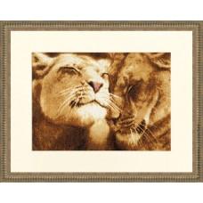 """Набор для вышивки Золотое руно ДЖ-028 """"Влюбленные львы"""""""