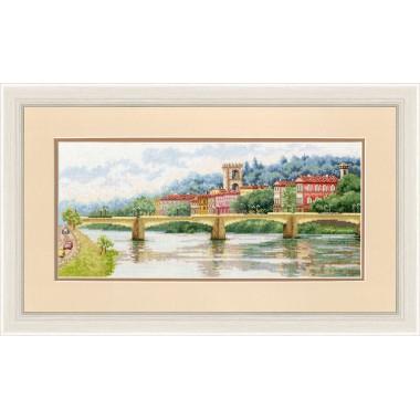 Набор для вышивки крестом Золотое Руно ДЛ-037 Мост Понте-алле-Грацие, Флоренция