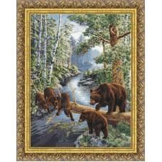 """Набор для вышивки Золотое Руно ДЖ-035 """"Медвежий край"""""""