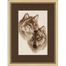 """Набор для вышивки Золотое руно ДЖ-037 """"Влюбленные волки"""""""