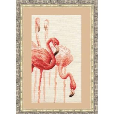 """Набор для вышивки крестом Золотое руно Ф-002 """"Фламинго"""""""