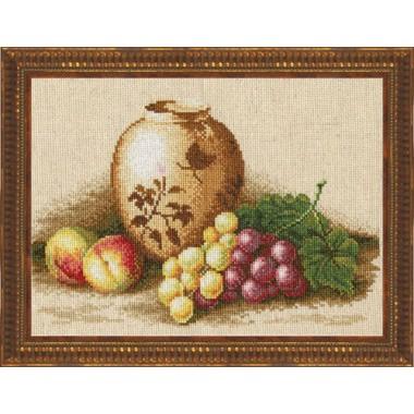"""Набор для вышивки крестом Золотое руно ФИ-004 """"Персики и виноград"""""""