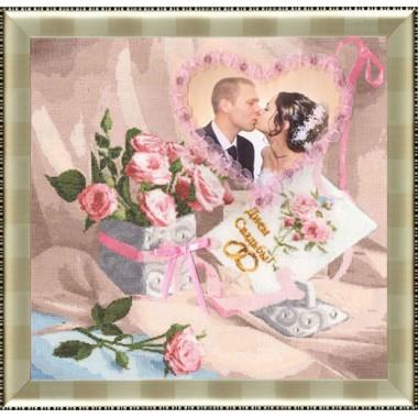"""Набор для вышивки Золотое руно ФТ-001 """"С Днем свадьбы"""""""