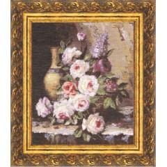 """Набор для вышивки крестом Золотое Руно ГН-003 """"Мраморные розы"""""""