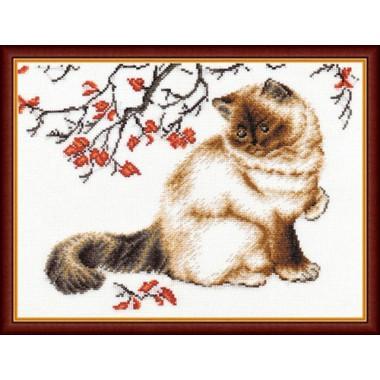 """Набор для вышивки Золотое руно К-006 """"Задумчивый кот"""""""