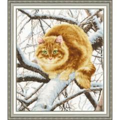 """Набор для вышивки Золотое руно К-010 """"Рыжий кот"""""""