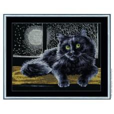 """Набор для вышивки Золотое руно К-009 """"Черный кот"""""""