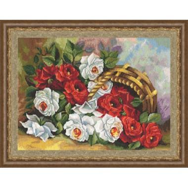 """Набор для вышивки крестом Золотое Руно ЛЦ-031 """"Садовые розы"""""""