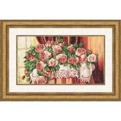 """Набор для вышивки Золотое руно ЛЦ-040 """"Розы на столе"""""""