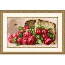 """Набор для вышивки Золотое руно ЛЦ-041 """"Розы в лукошке"""""""