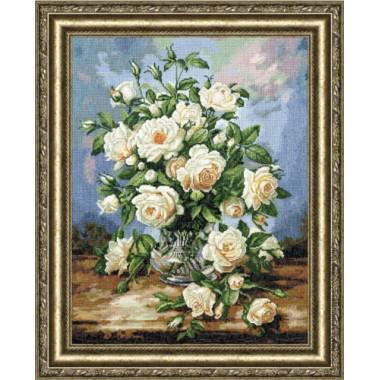 """Набор для вышивки Золотое Руно ЛЦ-043 """"Букет белых роз"""""""