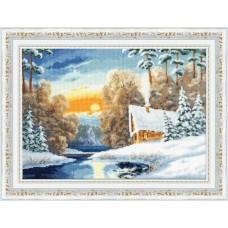 Набор для вышивания Золотое Руно ЛП-051 Зимняя речка