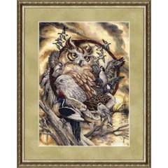 """Набор для вышивки крестом Золотое Руно ЛС-001 """"Птичий совет"""""""
