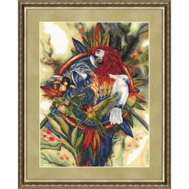 """Набор для вышивки крестом Золотое Руно ЛС-002 """"Птичий базар"""""""