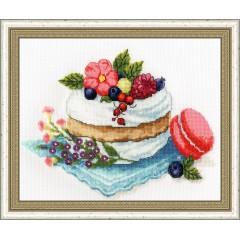 Набор для вышивки крестом Золотое Руно М-008 Десерт к чаю