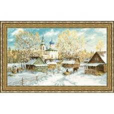 """Набор для вышивки Золотое руно МД-012 """"Деревенская зима"""""""
