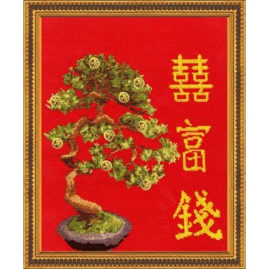 """Набір для вишивання Золоте руно МГ-009 """"Грошове дерево"""""""