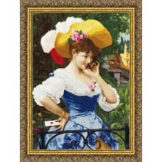 """Набор для вышивки Золотое руно МК-031 по мотивам картины Ф.Андреотти """"Любовное письмо"""""""
