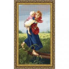 """Набор для вышивки Золотое руно МК-033 """"Дети, бегущие от грозы"""""""