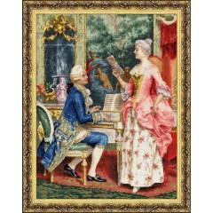 """Набор для вышивки Золотое руно МК-034 по мотивам картины А.Риччи """"Урок пения"""""""