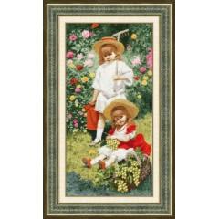 """Набор для вышивки Золотое руно МК-038 """"Портрет детей"""""""