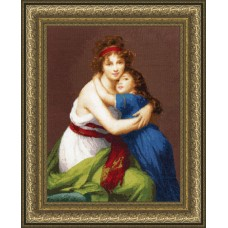 Набор для вышивания Золотое Руно МК-046 Автопортрет с дочерью (По мотивам картины Э. Виже-Лебрен)