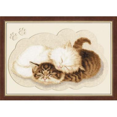 """Набор для вышивки крестом Золотое Руно НЛ-017 """"Котята"""""""