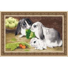 """Набор для вышивки Золотое Руно НЛ-036 """"Кролики"""""""