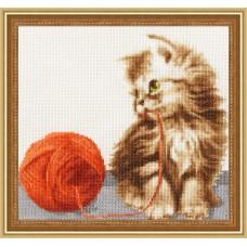 """Набор для вышивки Золотое руно НЛ-042 """"Котенок с клубком"""""""