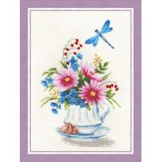 Набор для вышивания Золотое руно ОЛ-011 Цветочный чай