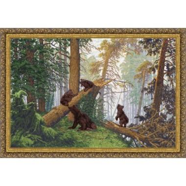"""Набор для вышивки Золотое руно ПФ-008 """"Утро в сосновом лесу"""""""