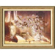 """Набор для вышивки Золотое Руно РТ-006 """"Цветущая сакура"""""""