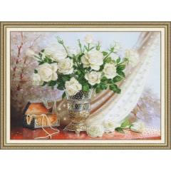 """Набор для вышивки Золотое Руно РТ-099 """"Белые розы"""""""