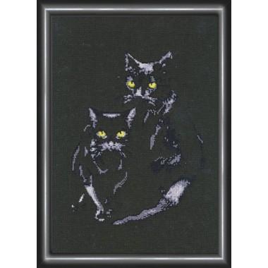 """Набор для вышивки крестом Золотое Руно С-006 """"Кошки"""""""