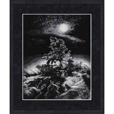 """Набор для вышивки крестом Золотое Руно С-010 """"Зимняя ночь"""""""