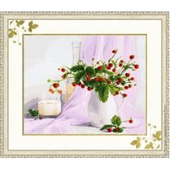 """Набор для вышивки Золотое руно СЖ-016 """"Розовый натюрморт"""""""