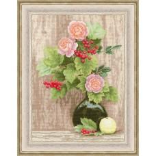 Набор для вышивания Золотое Руно СМ-027 Калина и розы