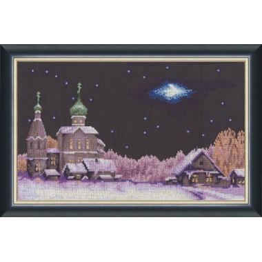 """Набор для вышивки крестом Золотое Руно СО-003 """"Новогодняя ночь"""""""