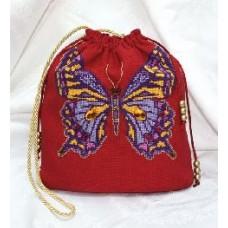"""Набор для вышивки Золотое руно СУ-004 """"Сумка бабочка"""""""