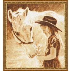 """Набор для вышивки Золотое Руно СВ-026 """"Любимая лошадка"""""""