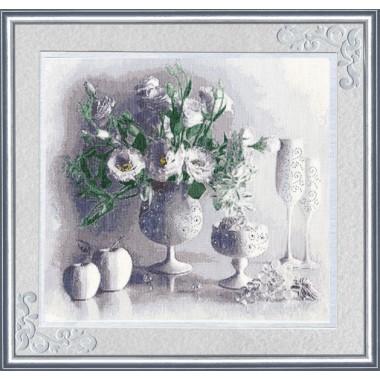 """Набор для вышивки Золотое Руно СЖ-012 """"Белый натюрморт"""""""