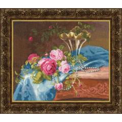 """Набор для вышивки Золотое руно СЖ-035 """"Розы и жемчуг"""""""