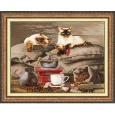 Набор для вышивки Золотое Руно СЖ-058 Хранители кофе