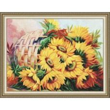 """Набор для вышивки Золотое Руно Т-010 """"Цветы солнца"""""""